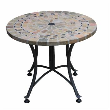 Vineyard Marble Outdoor End Table