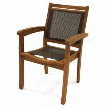 HN Outdoor Paloma Sling Stackable Outdoor Dining Chair