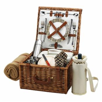 Picnic at Ascot Cheshire Wicker Picnic Basket for 2 - London