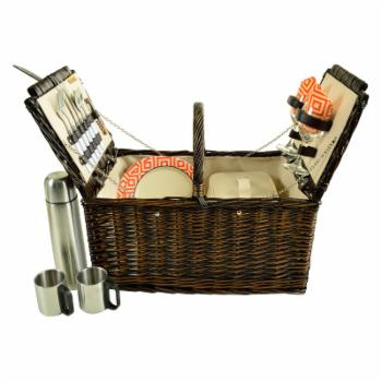 Picnic at Ascot 2 Person Surrey Willow Picnic Basket with Coffee Set