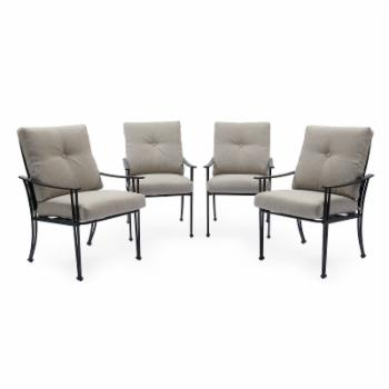 Coral Coast Callie Steel Slat Outdoor Dining Chair - Set of 4