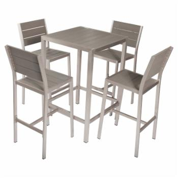 Pangea Outdoor Betty Aluminum 5-Piece Square Bar-Height Patio Dining Set