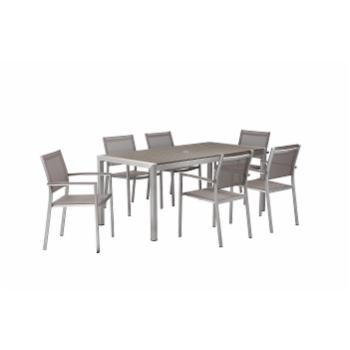 Pangea Outdoor David Aluminum 7-Piece Rectangular Patio Dining Set