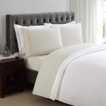 310 Thread Count Cotton Classic Dot Almond Milk Sheet Set by Charisma