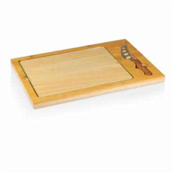 Picnic Time Icon Cutting Board with Removable Serving Tray - Natural Wood