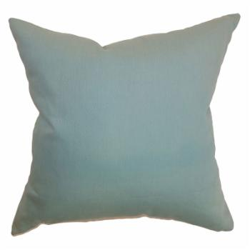 The Pillow Collection Resolute Plain Pillow - Aquamarine