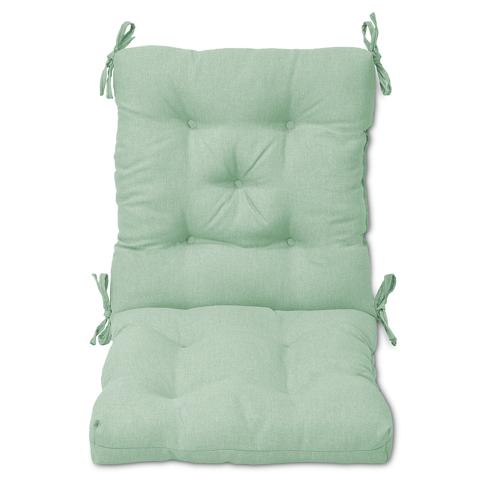 Plantation Patterns Tufted Hinged Chair Cushion