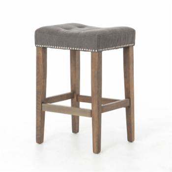 C2A French Nailhead Belham Tufted 26 in. Counter Height Stool