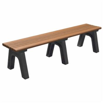 Polly Products Cambridge Commercial Grade Recycled Plastic Backless Bench