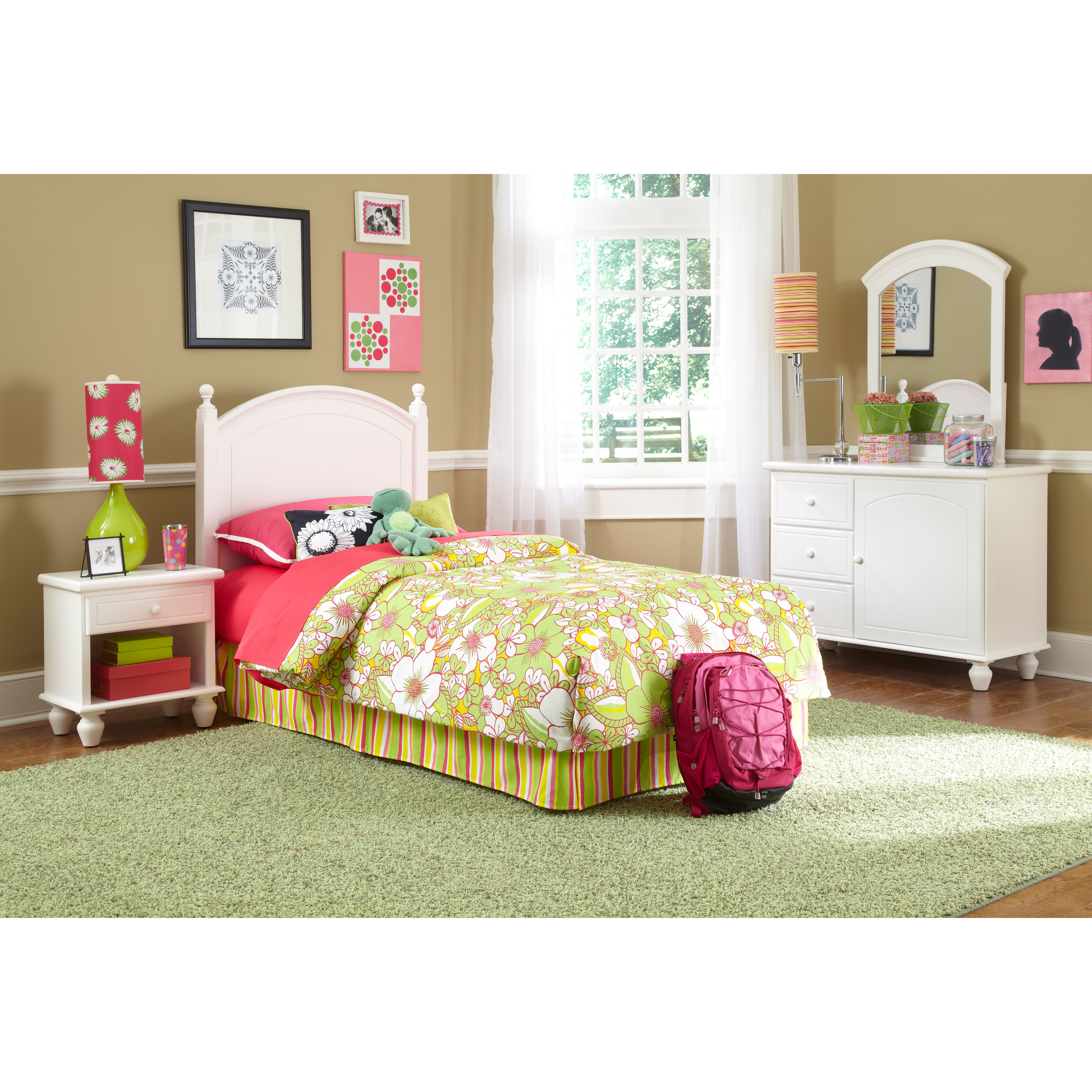 Powell White Twin Bedroom In A Box Hayneedle