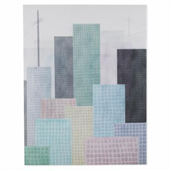 MoDRN Glam Pastel City Scape Canvas Wall Art