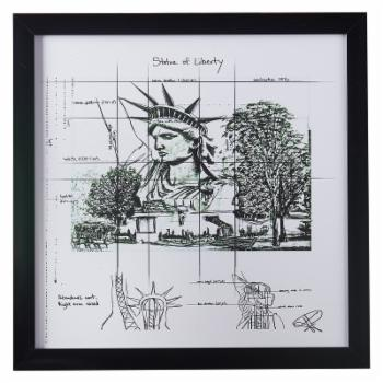 MoDRN Industrial Statue of Liberty Framed Wall Art