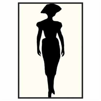 PTM Images Fashion Icon Series 1940s Framed Canvas Wall Art