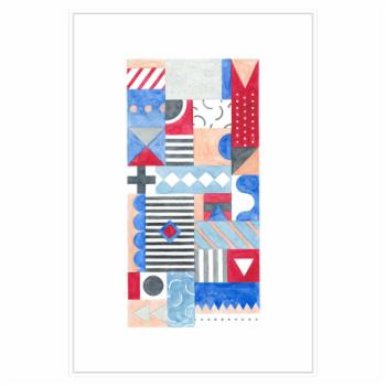 PTM Images Flags B Framed Canvas Wall Art