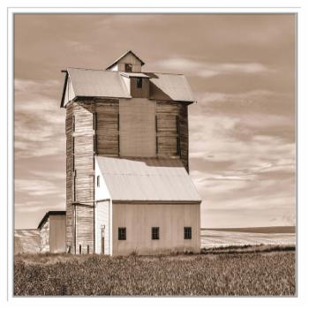 PTM Images Grain Elevator II Framed Canvas Wall Art