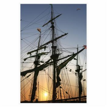 PTM Images Tall Ships Framed Canvas Wall Art