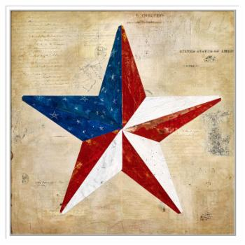 PTM Images Americana 3 Framed Canvas Wall Art