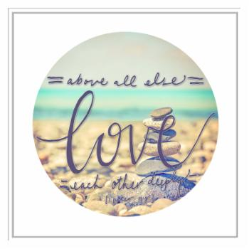 PTM Images Love Each Other Deeply Framed Canvas Wall Art