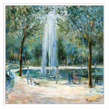 PTM Images Parisian Afternoon III Framed Canvas Wall Art
