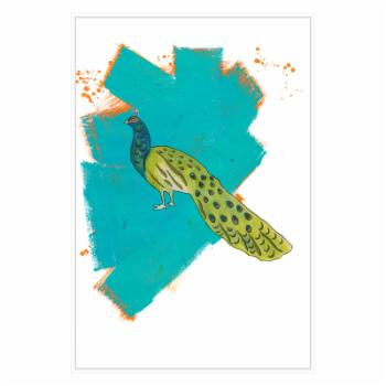 PTM Images Peacock 1 Framed Canvas Wall Art