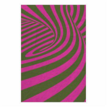 PTM Images Pink Swirls D Framed Canvas Wall Art
