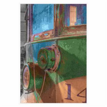 PTM Images Trolley 14 Posterized Framed Canvas Wall Art