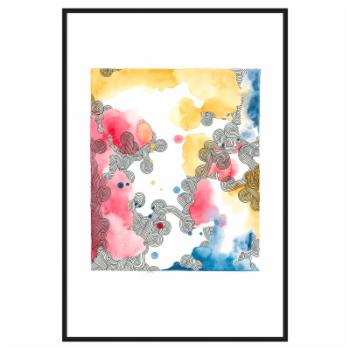 PTM Images Watercolor Mix 2 Framed Canvas Wall Art