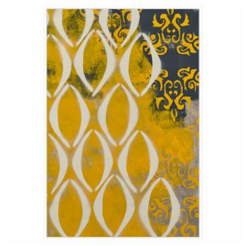 PTM Images Yellow Pintura 1 Framed Canvas Wall Art