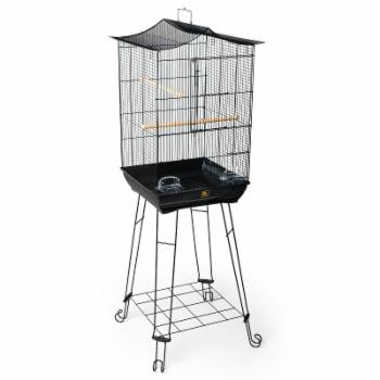 Prevue Pet Products Penthouse Suites Crown Roof Bird Cage with Black Stand