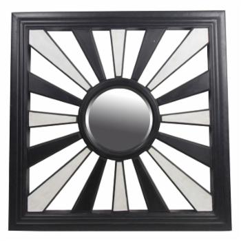 Privilege International Beveled Square Wall Mirror - 37.5W x 37.5H in.