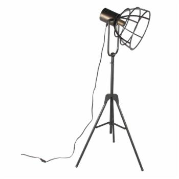 Privilege International Industrial Dark Brown Adjustable Floor Lamp
