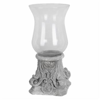 Privilege International Scrolled Hurricane Candle Holder