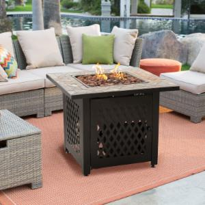 Fire Pit Patio Sets Hayneedle - Resin wicker fire pit table