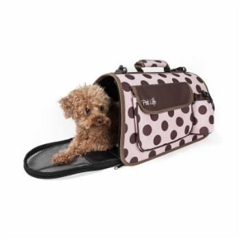 Pet Life Airline Approved Folding Zippered Casual Pet Carrier