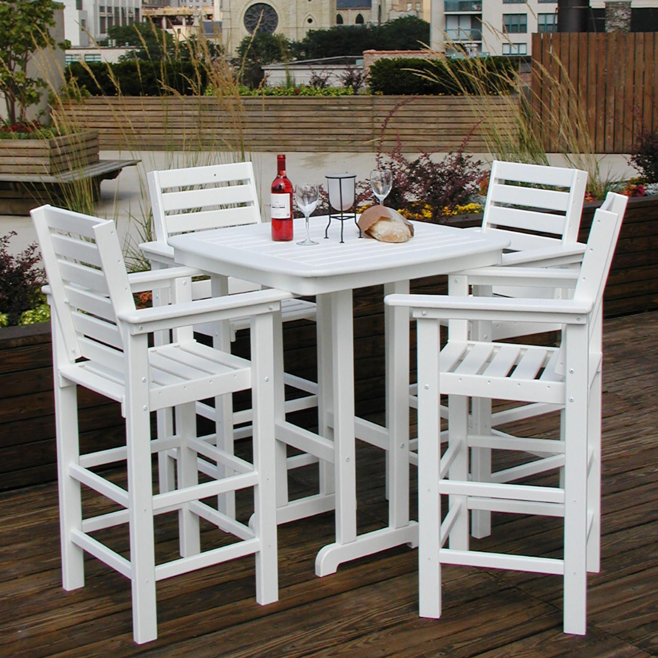 Recycled Plastic Bar Height Dining Set | Hayneedle