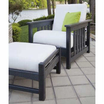 POLYWOOD® Mission Deep Seating 2 pc. Set - Black / Birds Eye