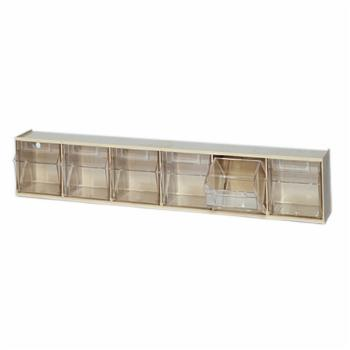 Quantum Clear Tip Out Bin Storage System - 6 Bin
