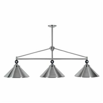RAM Gameroom Products EMP-B54 ST Empire 3-Light Billiard Light - 54W in. Stainless