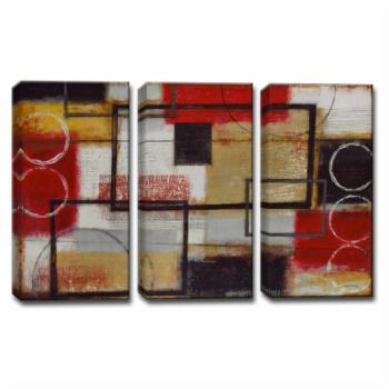 Ready2HangArt Energized Wrapped Canvas Wall Art - 3 pc. Set
