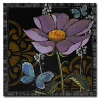 Ready2HangArt Gilt Slate Flora I by Hope Hansen