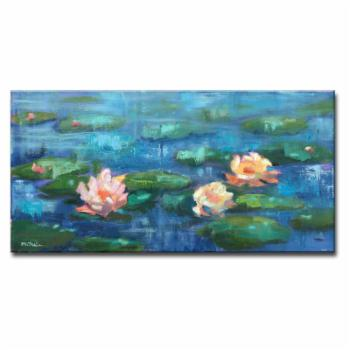 Ready2HangArt Water Lillies in Color by Dana McMillan