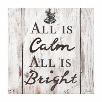 Ready2HangArt Christmas Silent Night Textual Canvas Wall Art