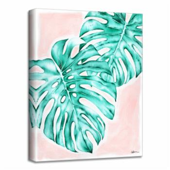 Ready2HangArt Blush Monstera Canvas Wall Art