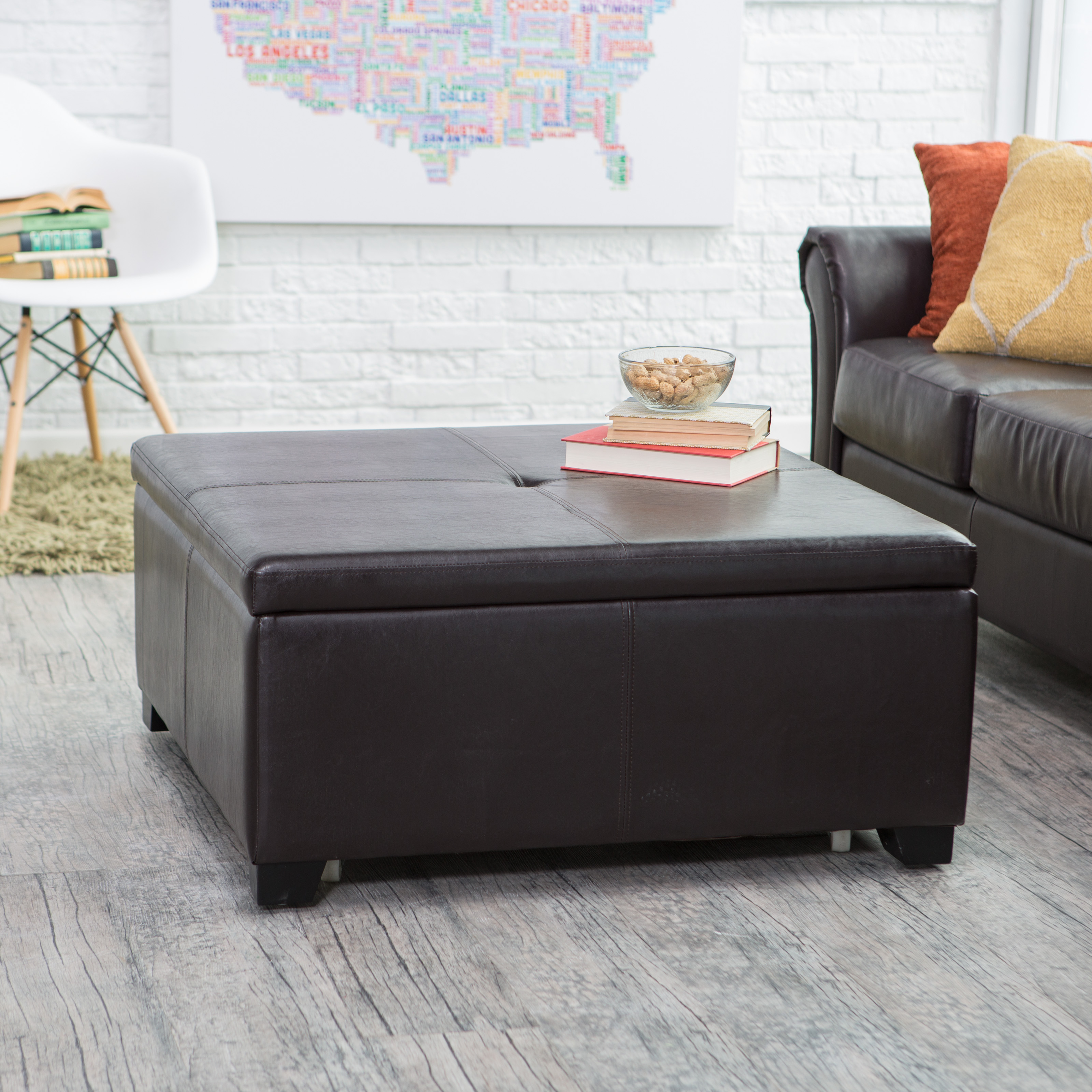 Exceptional Belham Living Corbett Square Coffee Table Storage Ottoman