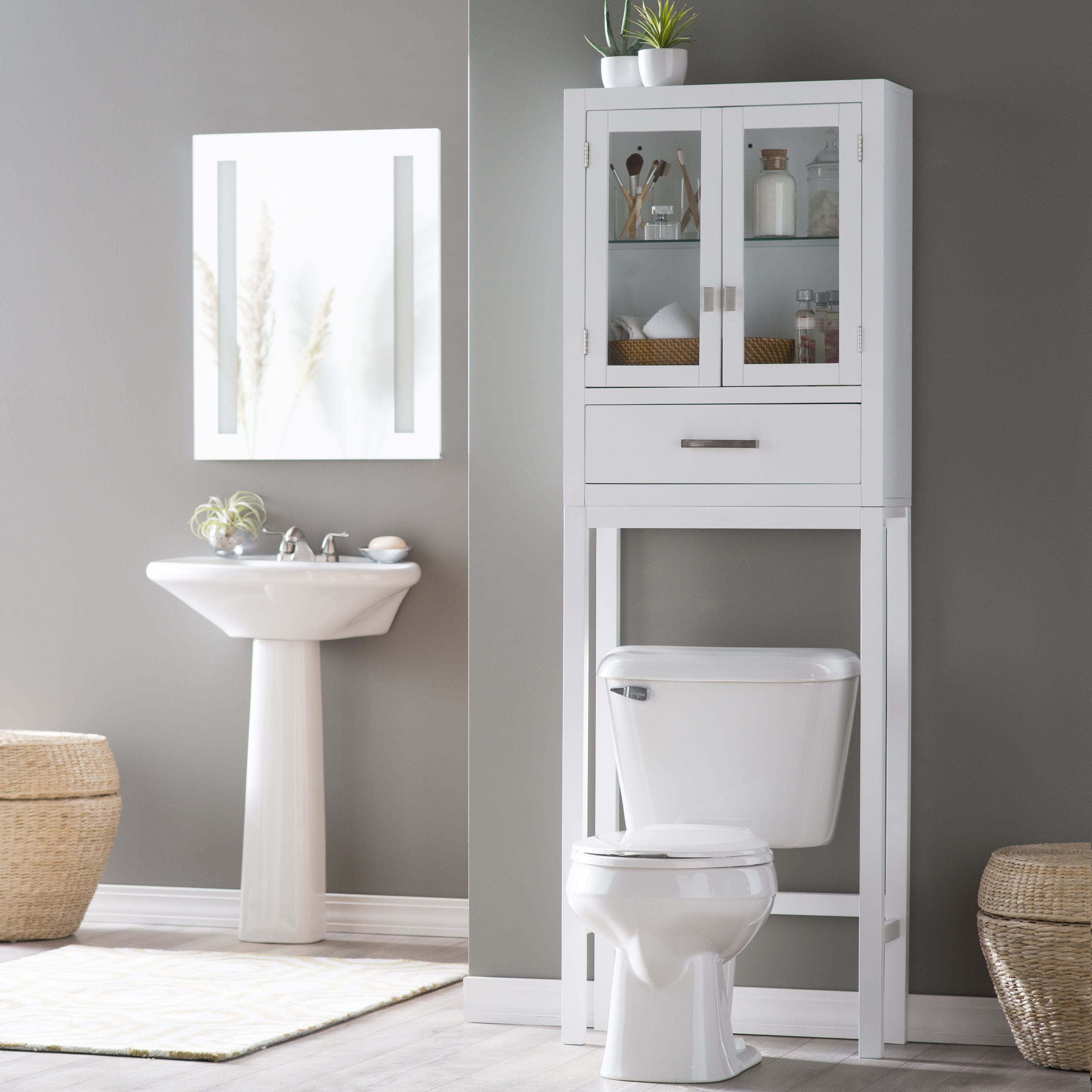 Belham Living Longbourn Over The Toilet Space Saver With Removable Legs |  Hayneedle