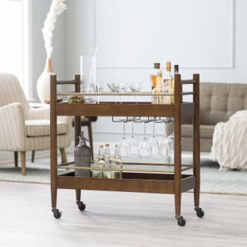 Belham Living Carter Mid-Century Modern Bar Cart