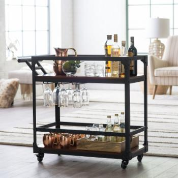 Belham Living Trenton Bar Cart - Espresso