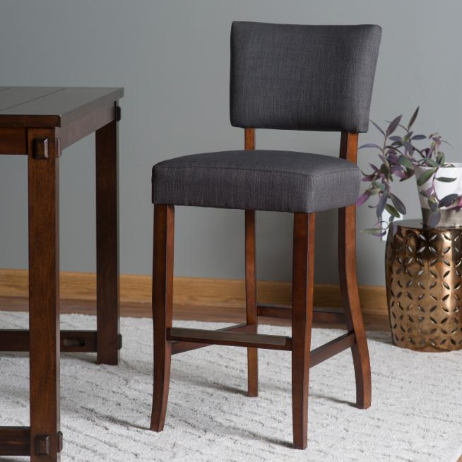 Cool Belham Living Paige Open Back Bar Stool Charcoal Hayneedle Uwap Interior Chair Design Uwaporg