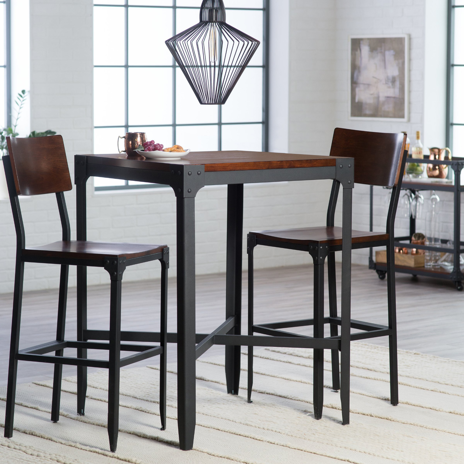 Perfect Belham Living Trenton 3 Piece Pub Table Set
