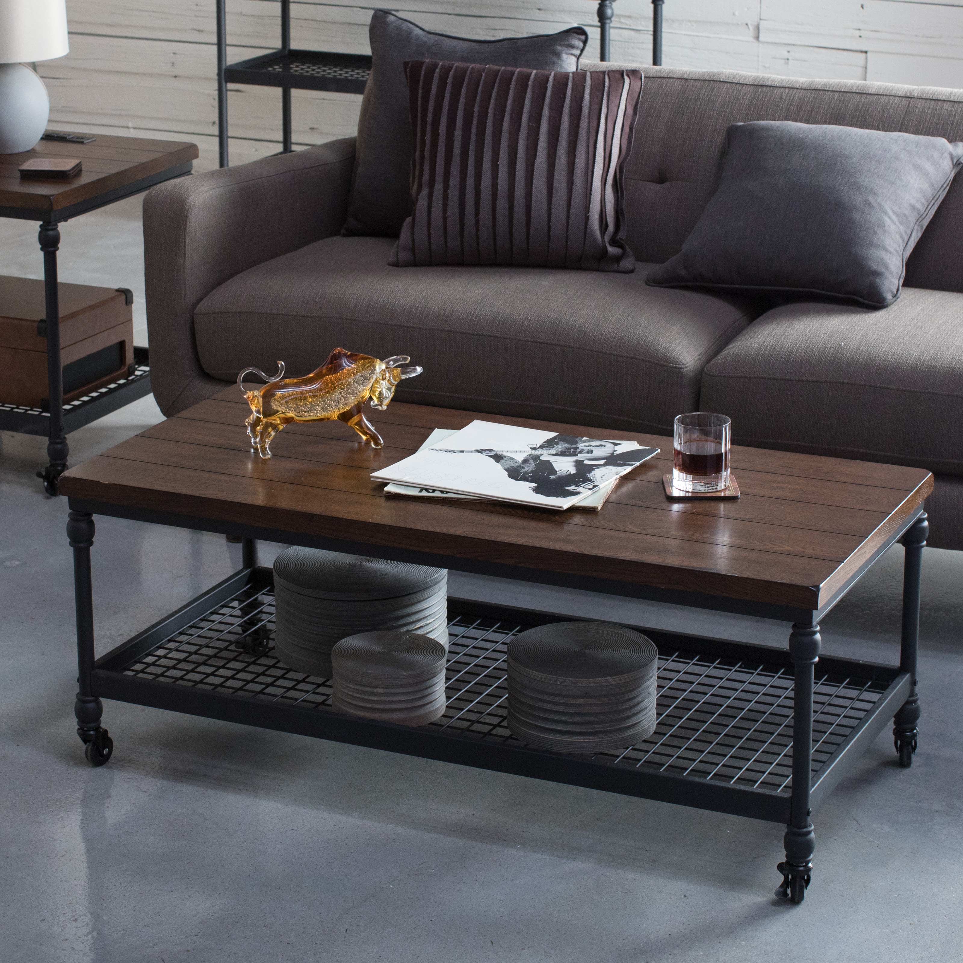 Belham Living Archer Industrial Coffee Table